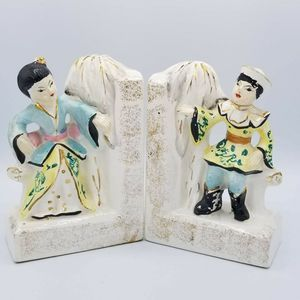 Other - VTG Japan Hand Painted Ceramic Oriental Bookends